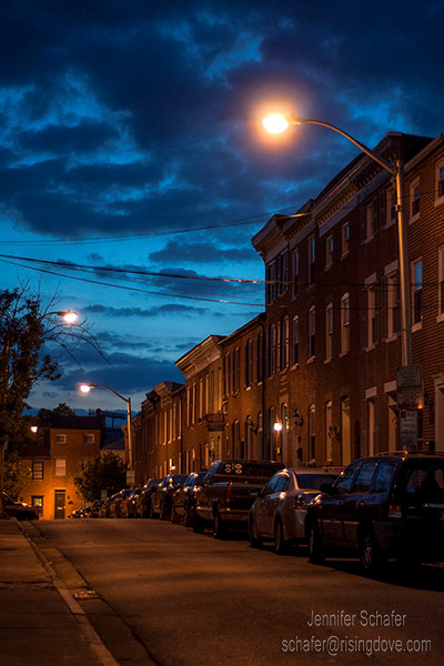Federal Hill at Night © Jennifer Schafer